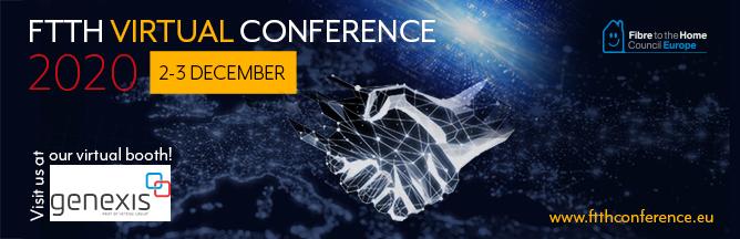 Genexis FTTH Virtual Conference 2020 Sponsor Banner